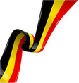 belgium ribbon flag on white background vector image vector image