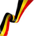 Belgium ribbon flag on white background