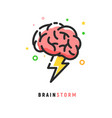 brainstorm icon idea brain storm lighting vector image vector image