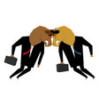 bullfighting businessman business negotiations vector image