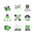 Business analysis icons vector image vector image