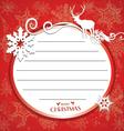 Card Noel vector image