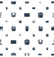 carton icons pattern seamless white background vector image vector image