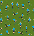 cartoon football players seamless pattern vector image vector image