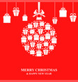 christmas gifts hanging vector image vector image