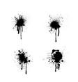 circle ink blots vector image vector image