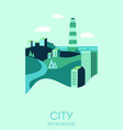city background with modern high buildings vector image vector image