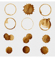 coffee stain big set vector image