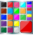 Colorful square buttons vector image vector image