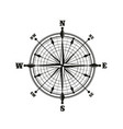 compass with dial monochrome icon vector image