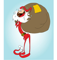 crazy santa claus vector image