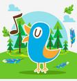 cute bird in forest vector image vector image