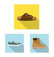 design of shoe and footwear logo set of vector image