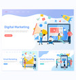 digital and email mobile marketing working people vector image vector image
