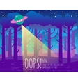 Error page flat template with ufo and Earth vector image