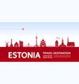 estonia travel destination vector image vector image