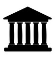flat icon of bank building vector image