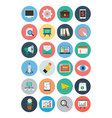 Flat SEO and Marketing Icons 1 vector image vector image