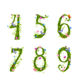 foliage letter 6 vector image vector image