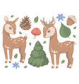 forest deers vector image