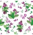 Green Purple Floral Garden Seamless Pattern vector image vector image