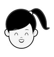 happy girl cartoon vector image vector image