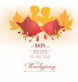 Happy Thanksgiving with acorns and leaves vector image vector image