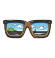 landscape in sunglasses sketch vector image