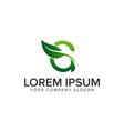 letter g leaf logo design concept template fully vector image vector image