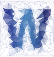 letter W low poly vector image vector image