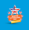 martin luther king jr day us sticker or vector image
