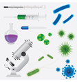 medical tools and viruses vector image vector image