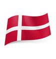 National flag of denmark white scandinavian cross