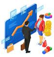partnership handshake business man and woman vector image