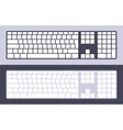 PC keyboard vector image