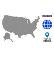 pixelated usa with alaska map vector image
