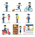 Postman Character Collection vector image vector image