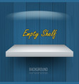 realistic empty shelf for exhibit your objects vector image