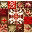 red gold various quad ornament vector image vector image