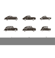 Retro Car Black Icons Collection vector image