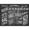 Sale hand-lettering chalkboard set vector image vector image