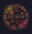 salmon round - colored fish vector image vector image
