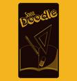 school doodle cartoon vector image