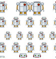 seamless background with toy robot vector image vector image