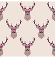 Seamless pattern with hipster deer wearing
