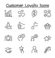 set customer loyalty line icons contains vector image