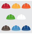 Set of abstract icon design template of worker vector image vector image