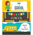 Set of back to school flyers Template for back to vector image