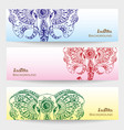 set of three indian banners vector image vector image