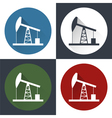set Oil derrick icon vector image